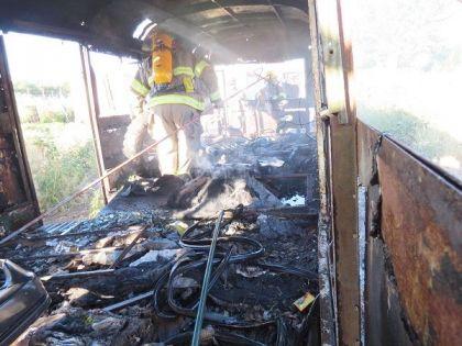 Los Bomberos Voluntarios combatieron dos incendios