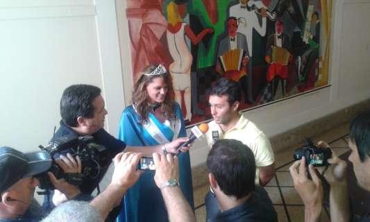Ronda de prensa en Necochea