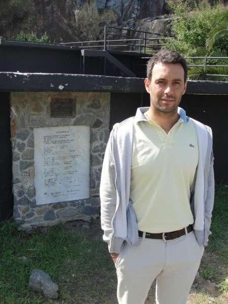 Rodrigo Pando en anfiteatro