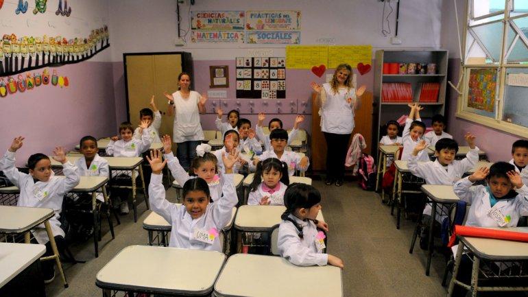 aula con alumnos