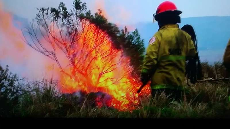 incendio el volcan
