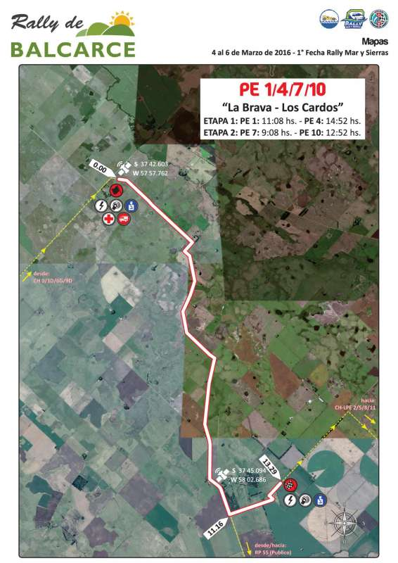 Mapa Prueba Especial Balcarce 2016 V2