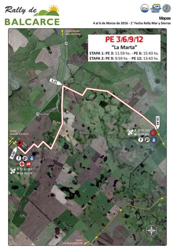 Mapa Prueba Especial Balcarce 2016 V4
